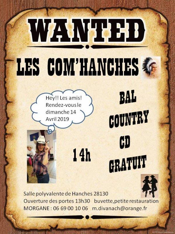 Bal des Com'Hanches 14 Avril 2019. Affiche & Playlist ......