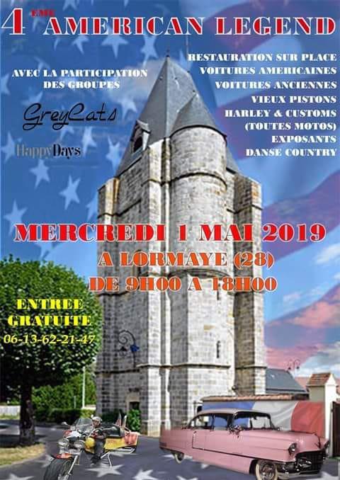 1 er Mai 2019. à Lormaye 28 (Nogent le roi ) Festival . Sympa , près de chez nous , et les copinoux y seront ...