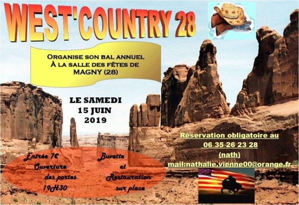 Bal des West' Country 28 Charonville ........ Le 15 juin prochain à Magny 28.Chez notre Petite Douceurs de Nath .