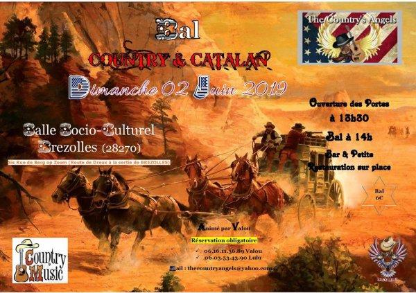 A vos agendas ... Bal des Country Angel's à Brezolles le 2 juin 2019. ...Affiche & playlist