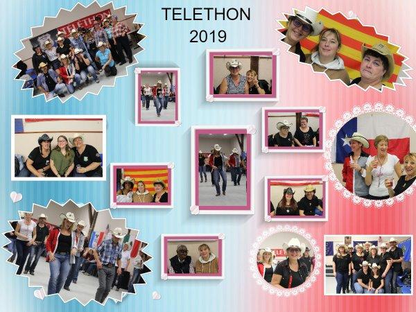 Téléthon 2019 : Encore beaucoup de monde sur les 10 heures de danses à Nogent-Le-Roi 28210 avec Passion Country organisateur de cette belle journée entre amis et interclubs