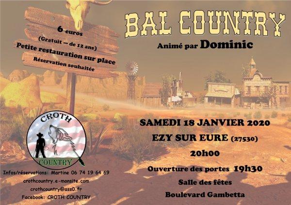 A vos agendas , le 18 Janvier  prochain chez nos amis de Croth Country avec Dom .......Playlist reçue et ajoutée