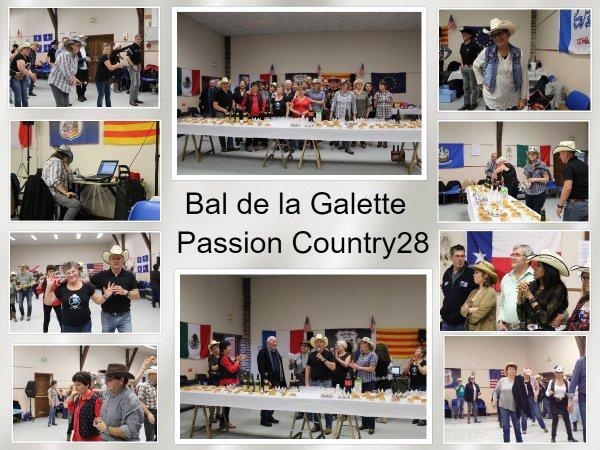 Bal de la Galette chez Passion Country et remise du chèque pour le téléthon .