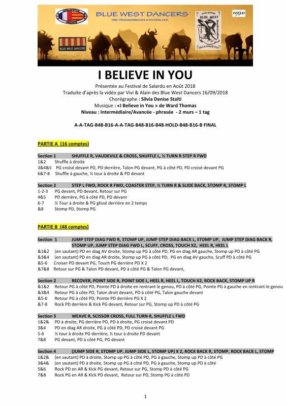 I Believe In You  / Inter-Avancée