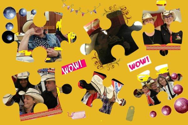 Jeu Photo : 3 questions ........... Quel était cet événement dont les 6 pièces de puzzle font partis  ---  Qui sont les personnes sur la pièce du milieu en haut  ---- Qui apparaît plusieurs fois  sur les pièces de ce puzzle ...... Bonne chance  les amis