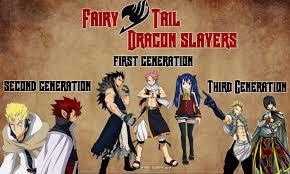 les générations des dragons slayer!!!