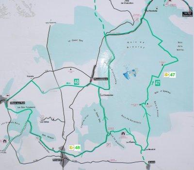 circuit VTT n° 47 La Tourfaine : Bougnon , Provenchère