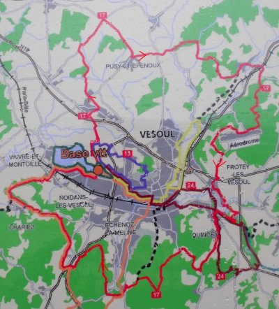 circuit VTT n°17 Vesoul et ses environs