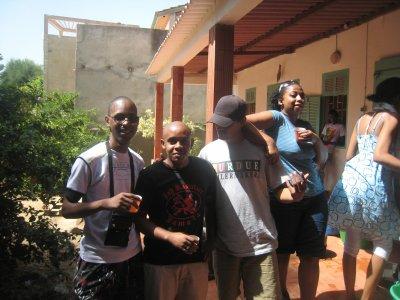 Moi et mes potes à l'île de Ngor