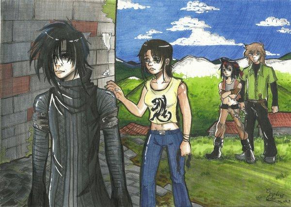 Jasmyna, Doryne, Dylan et Saëyun ( Enyl )