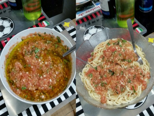 Les spaghettis à l'ail :