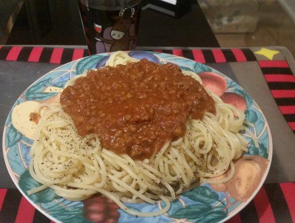 Les spaghetti à la Bolognaise :