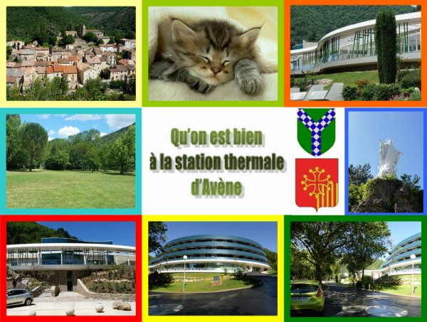 La station thermale d'Avène :