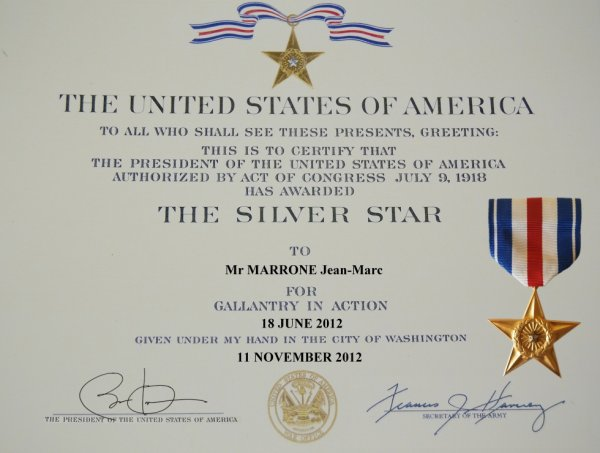 The Silver Star usa avec la Silver Star :