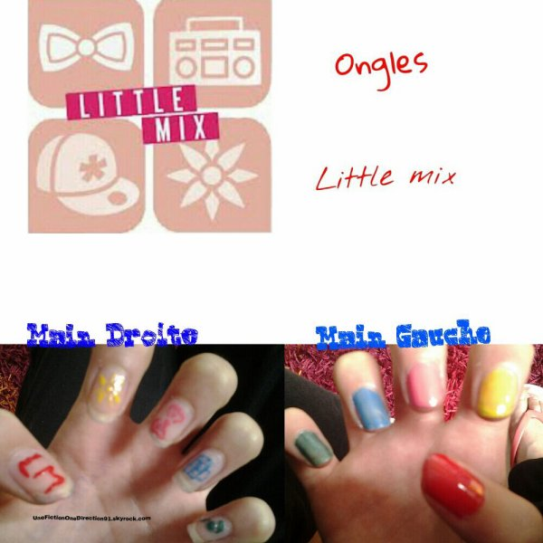Ongles Little Mix (fais par moi)