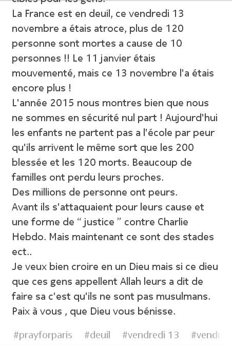 #prayforParis : lisez