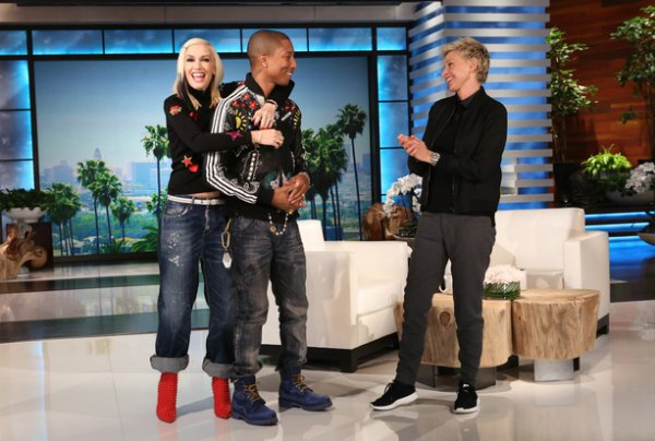 "....""ELLEN"" MONTRE UN BOUT DU CLIP DU NOUVO DUO ""PHARRELL WILLIAMS ET GWEN STEFANI"""