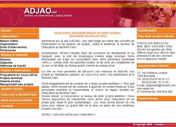 Le site d'ADJAO ...