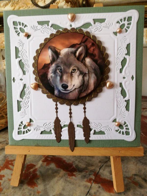 carte loup capteur de reve