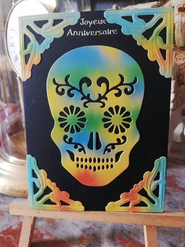 carte annif tete de mort