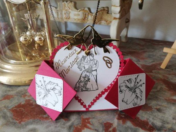 carte chevalet mariage