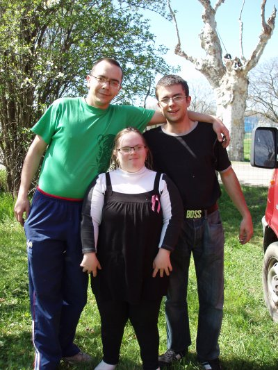 mon bof et son frère sylvain et moi!!!