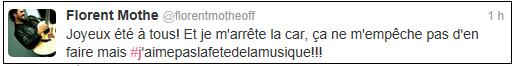 Quand Florent donne de ses nouvelles sur Twitter