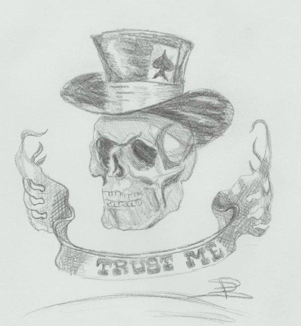 First tête de mort que j'ai dessiner ! des avis?