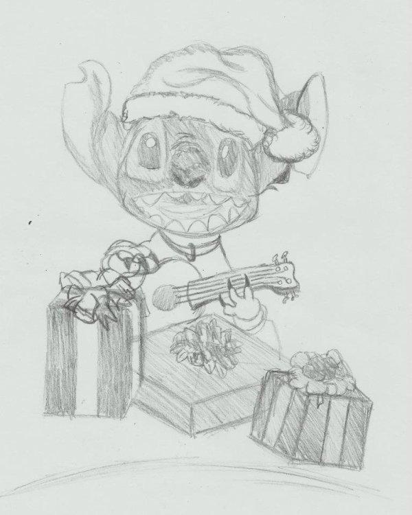 Joyeux Noel d'la part de Stitch ! BAWAAA