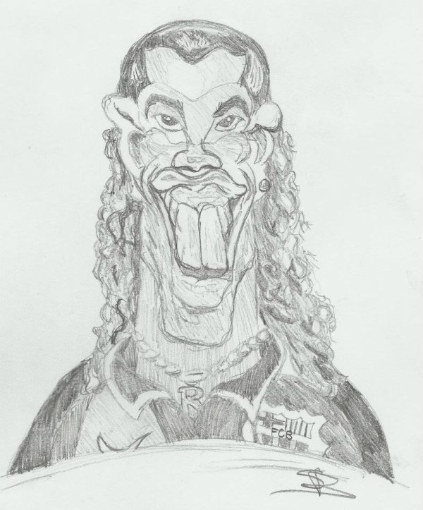 First caricature ! Ronaldinho ! Avis?