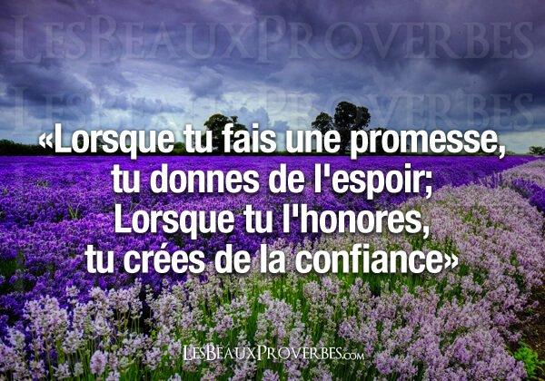 Les promesses ...