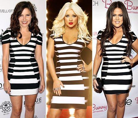 Les stars portent les mêmes tenues 8 : Sophia Bush, Christina Aguilera et Khloe Kardashian !