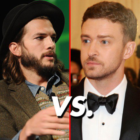 VS de stars 15 : Ashton Kutcher VS Justin Timberlake !