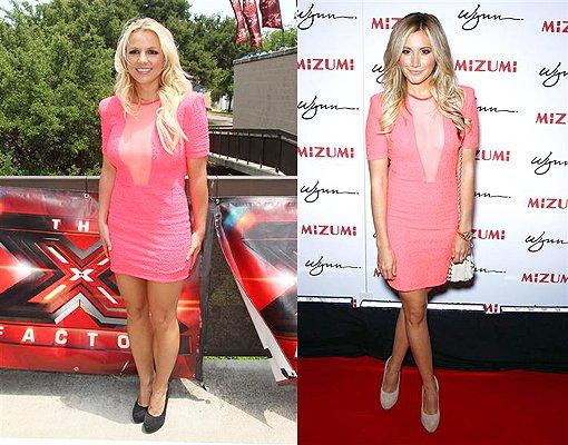 Les stars portent les mêmes tenues 14 : Britney Spears et Ashley Tisdale !