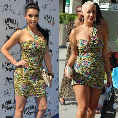 Les stars portent les mêmes tenues 11 : Kim Kardashian et Amber Rose !