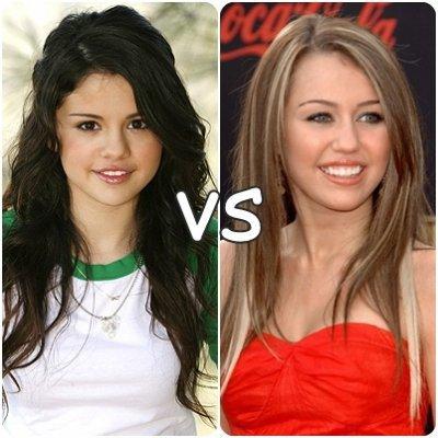 VS de stars 3 : Selena Gomez VS Miley Cyrus !