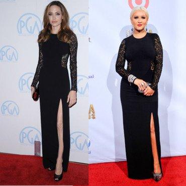 Les stars portent les mêmes tenues 13 : Angelina Jolie et Christina Aguilera !