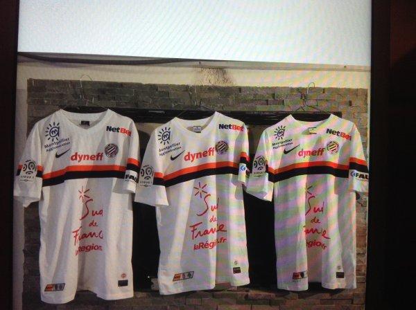 A VENDRE maillots de foot portés de MONTPELLIER MHSC