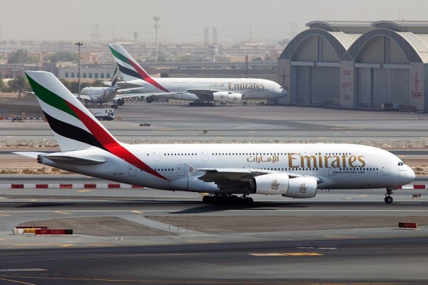 Airbus A380-841 x2 + Airbus A340-500 Emirates