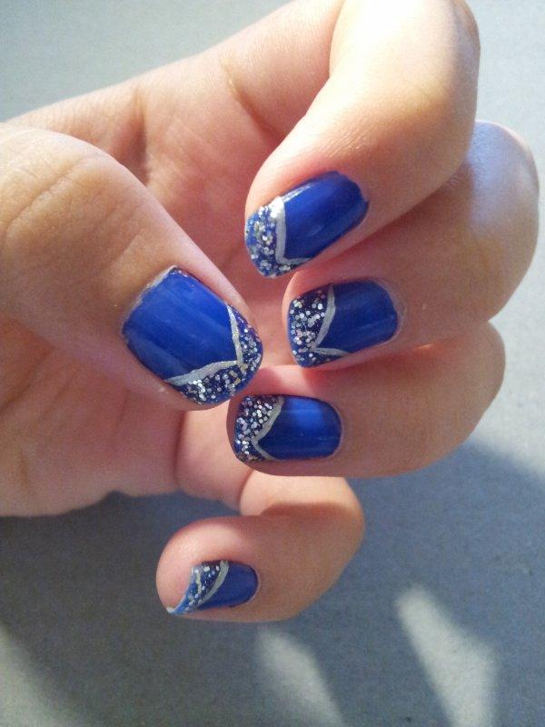 Nail art bleu laury s nail - Nail art bleu ...
