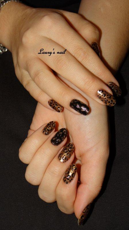 Nail art leopar
