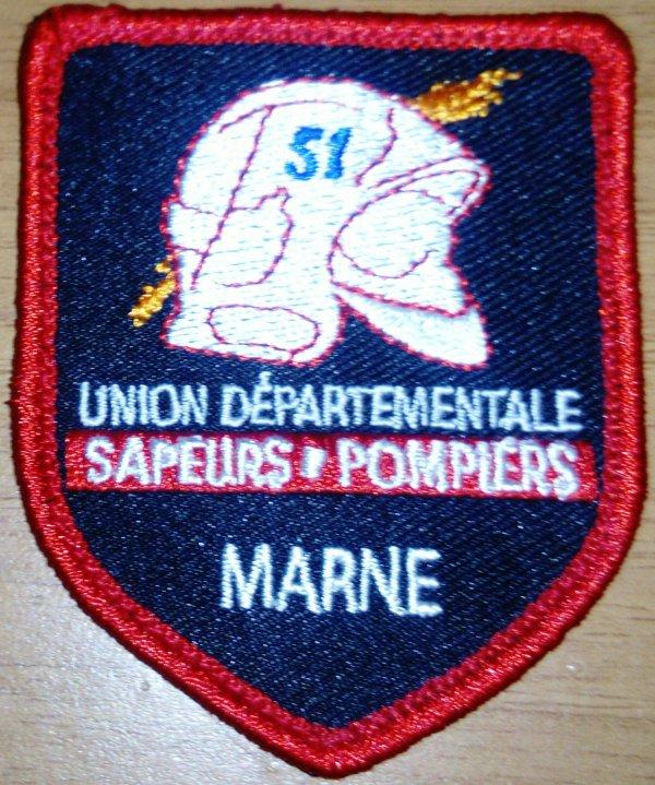 ma collection d'écusson pompiers de la Marne
