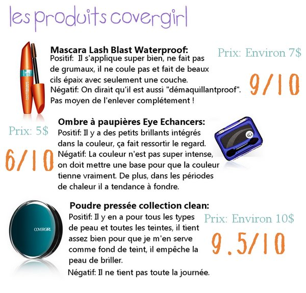 Review: Produits Covergirl