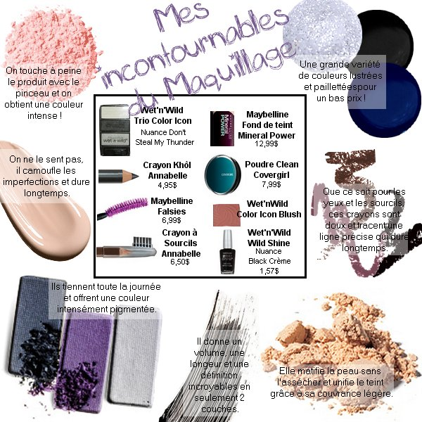 Mes incontournables du Maquillage