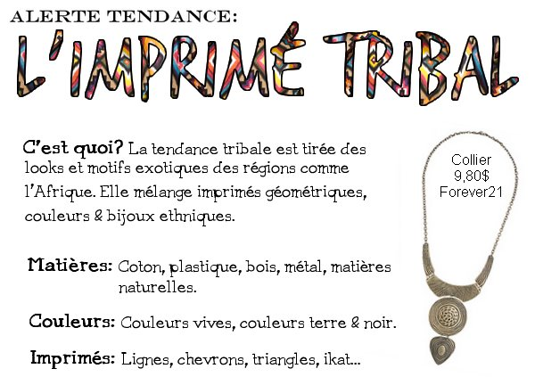 Alerte tendance: L'imprimé tribal