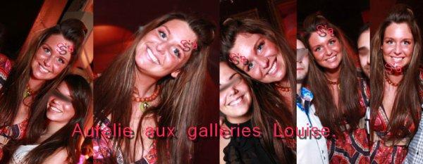 - Aurélie aux galleries Louise + ma dédicasse + elle et Ayem.