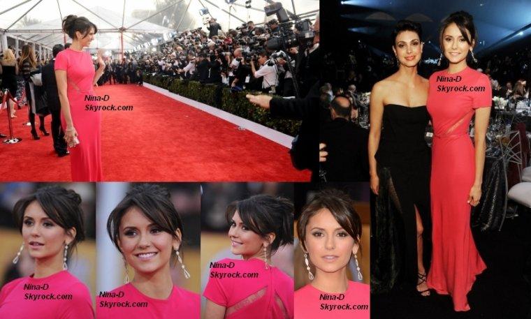 27/01/2013 Nina à la 19ème édition des Screen Actors Guild Awards. Très jolie! Votre avis?