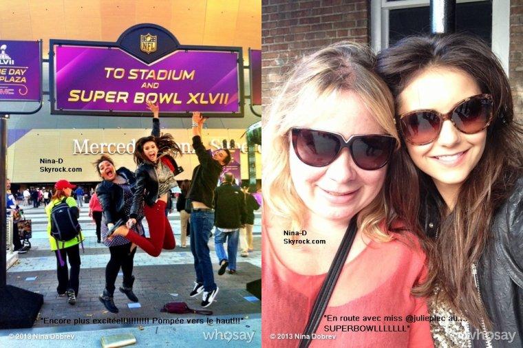 03/02/2013 Nina au Super Bowl. Un énorme Top pour sa tenue! Et vous, votre avis, TOP ou FLOP?
