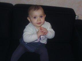 ma petite justyne a 8 mois