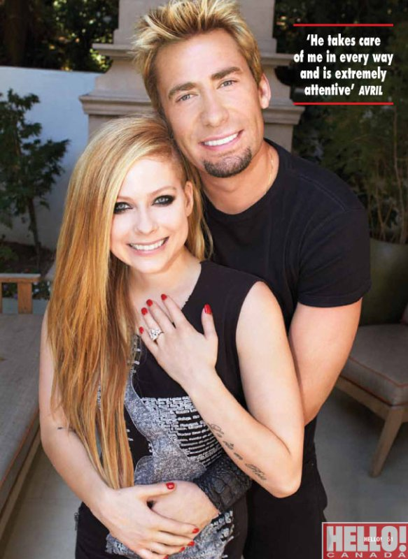 Avril Lavigne Fiancée !
